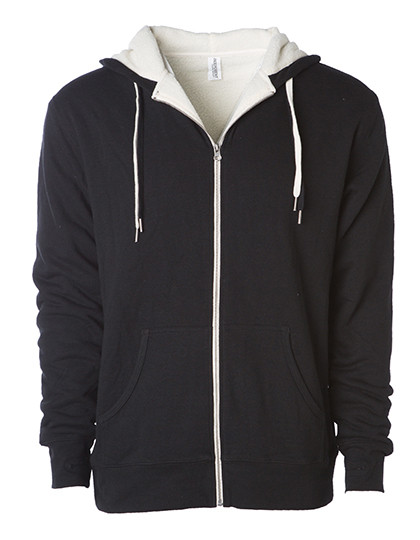 NP352 Independent Unisex Sherpa Lined Zip Hooded Jacket